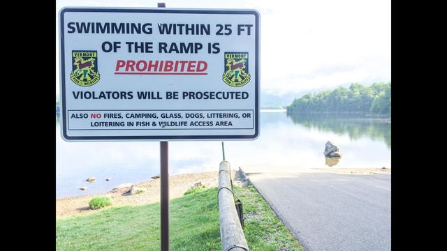 Vermont Fish & Wildlife: Fishing Access Areas are not for Swimming