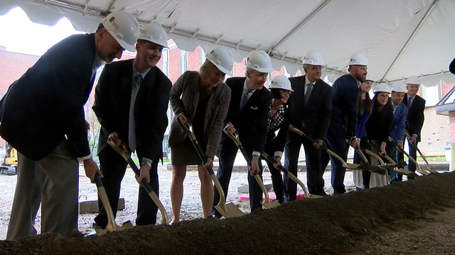 UVM Business School Breaks Ground for Expansion Project, Honoring Late Alumnus