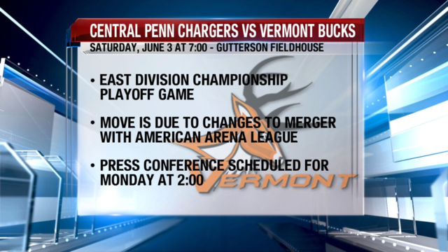Vermont Bucks to Play Central Penn Chargers, Not Boston Blaze, in East Division Playoff