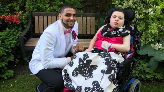 UVM Basketball's Lamb Takes Special Needs Student to Winter Formal