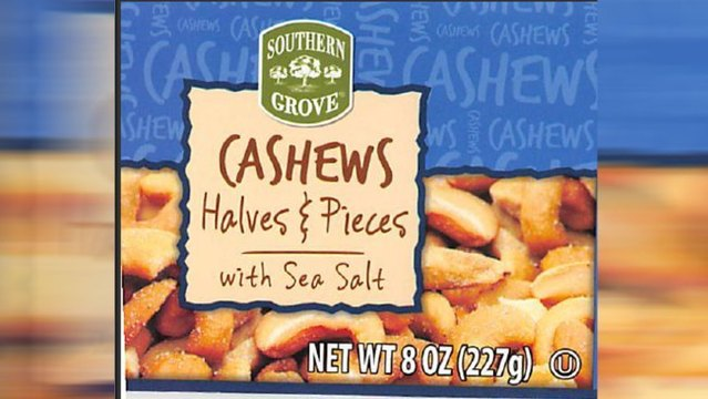 Cashews Recalled due to Reports of Glass Pieces in Package