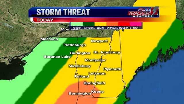 Weather: Storms Southern/Eastern VT into NH (6/19 AM)