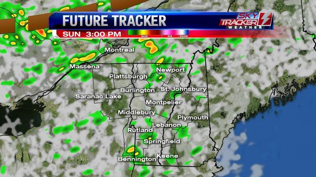 Weather: Clouds and Spotty Showers Sunday (6/24/17)