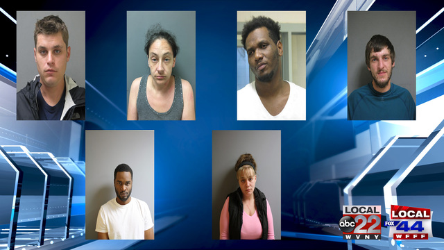VSP: Seven Busted for Selling Drugs in Chittenden and Franklin Counties