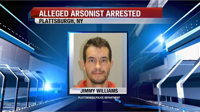 Police:  Plattsburgh man Arrested for Setting Fire to Eight Vehicles