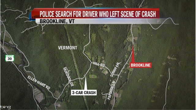 Police Search for Driver Who Left Scene of Multiple-Car Crash