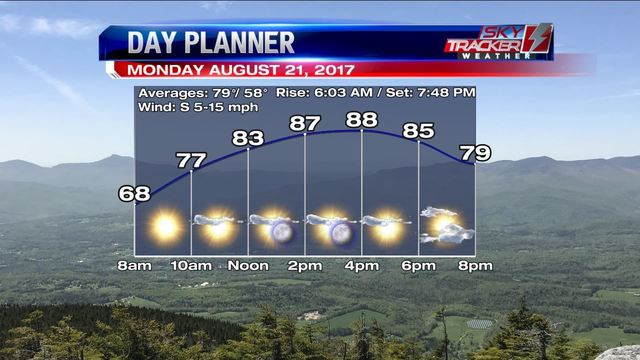 Weather: Sky Cooperates for Eclipse Viewers (8/21 AM)