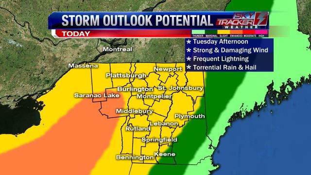 Weather: Tuesday Afternoon Brings Severe Weather (8/22/17)