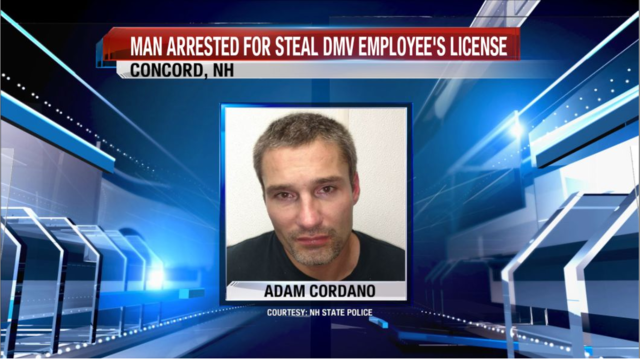NH Police: Man Arrested for Stealing DMV Employee's Phone, License