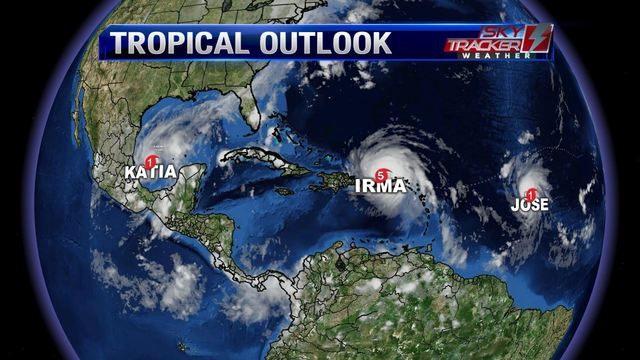 Weather: Thursday Showers, Plus Latest on Hurricane Irma (9/6/17)