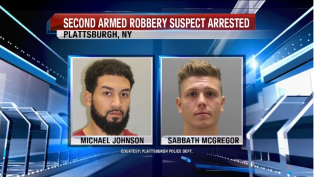Plattsburgh Police: Second Suspect in Armed Robbery Arrested