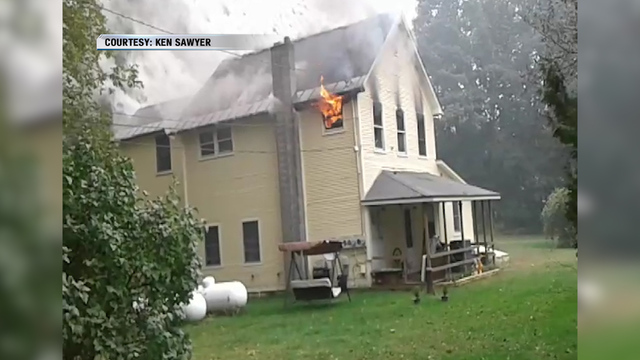 Fire Displaces Two Milton Families on Bear Trap Road
