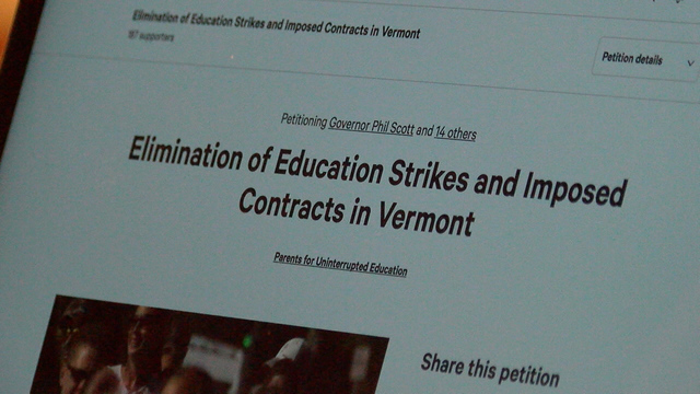 South Burlington Parents Create Petition to Eliminate Teacher Strikes and Imposed Contracts