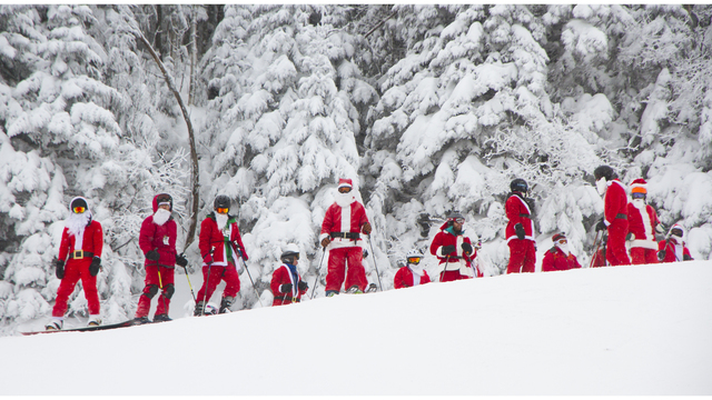 Santas ski for free this Sunday at Whiteface