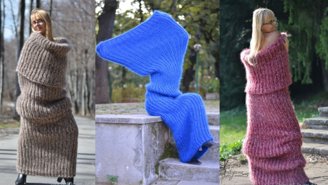 Floor-length winter 'tube scarf' is latest in strange fashion trends