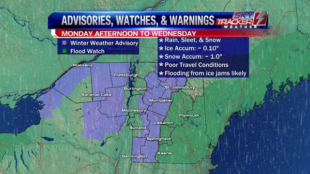 Weather Wintry mix Monday becomes all rain by Tuesday