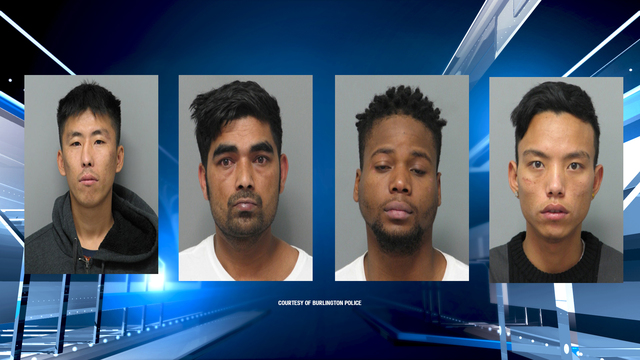 Four busted for selling drugs near the Burlington Police Station
