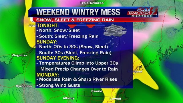 Weather: Dangerous Winter Weather Lasts Overnight and Sunday (4/14/18)