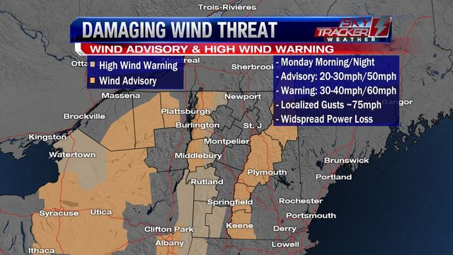 Weather: Wintry Mix Overnight & Damaging Wind Gusts Tomorrow