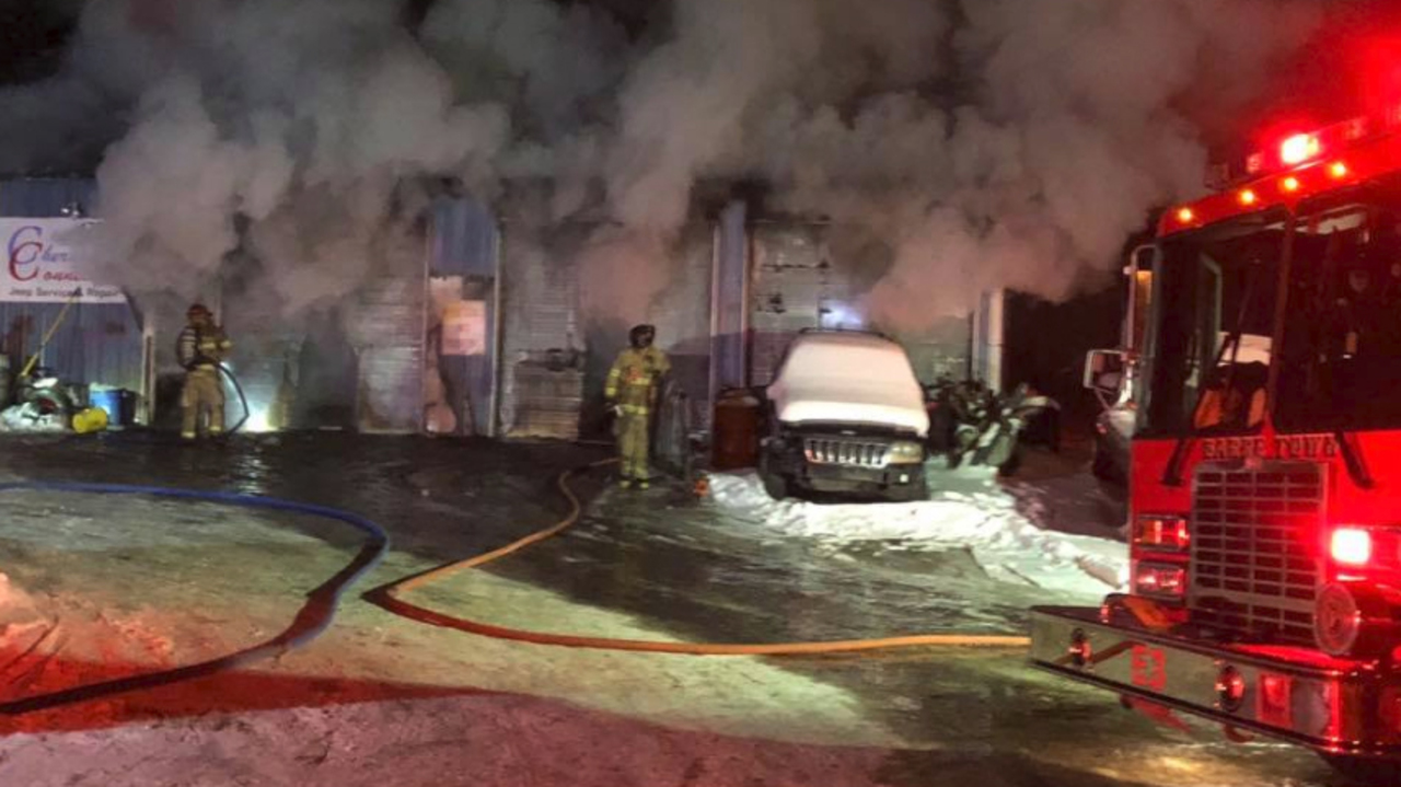 Orange auto repair shop destroyed in early morning fire