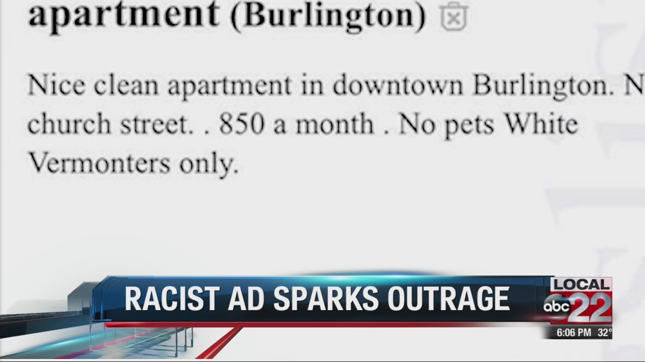 White Vermonters Only Craigslist Ad Sparks Outrage