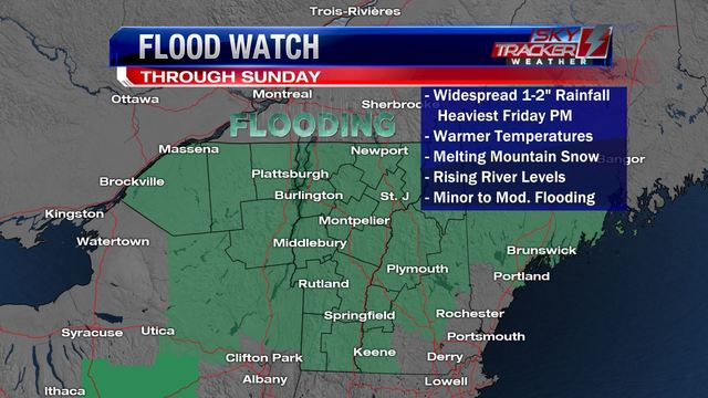 Weather: Minor to moderate flooding likely (4/18/2019)