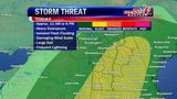 Weather: Strong to severe storms possible Monday (5/20 AM)